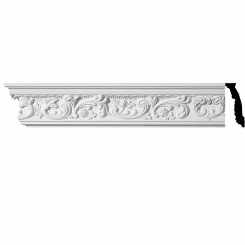 <PRE>Ornate Cornice White Urethane Cannes 4 3/8inch H </PRE>zoom1