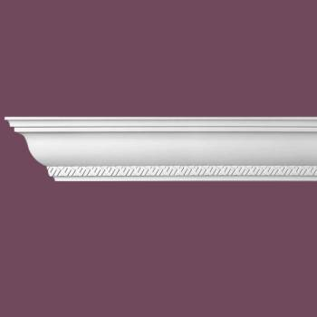 spec-<PRE>Ornate Cornice White Urethane  4 3/4&quot; H Corinth </PRE>