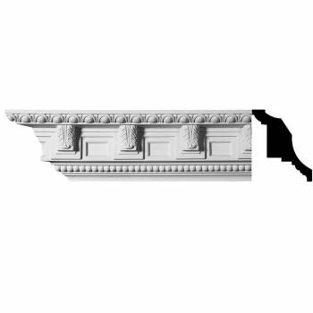 Ornate Cornice White Urethane 6
