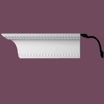 "spec-<PRE>Ornate Cornice White Urethane 5 1/4"" Villeneuve </PRE>"