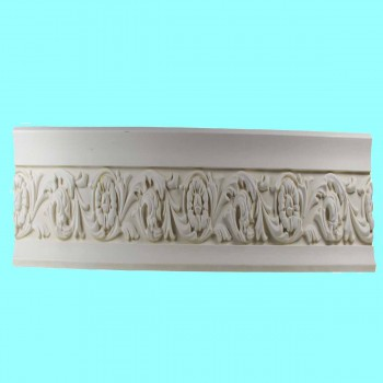 <PRE>Ornate Cornice White Urethane 3inch H Ainsley </PRE>zoom2