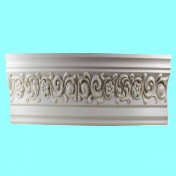 spec-<PRE>Ornate Cornice White Urethane 4&quot; H Arlington </PRE>