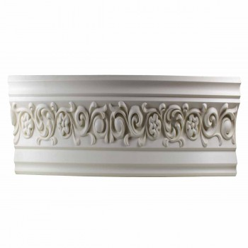 <PRE>Ornate Cornice White Urethane 4&quot; H Arlington </PRE>