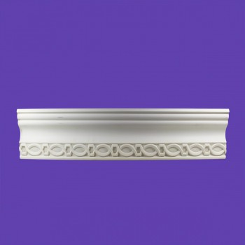 <PRE>Ornate Cornice White Urethane 3inch H Great Barrington </PRE>zoom2