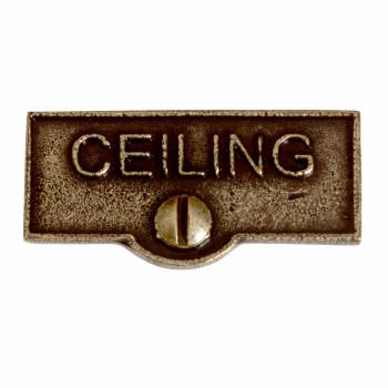 Switch Plate Tags CEILING Name Signs Labels Cast Brass 11402grid