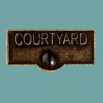 Switch Plate Tags COURTYARD Name Signs Labels Cast Brass Switch Plate Labels Switch Plate ID Labels Switch Plate Label