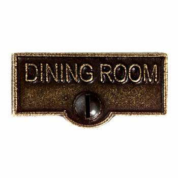 Switch Plate Tags DINING ROOM Name Signs Labels Cast Brass 11407grid