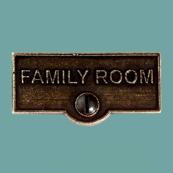 <PRE>Switch Plate Tags FAMILY ROOM Name Signs Labels Cast Brass </PRE>zoom2