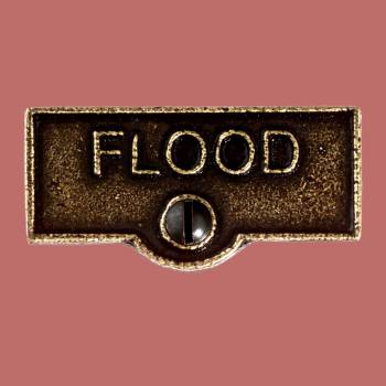 <PRE>Switch Plate Tags FLOOD Name Signs Labels Cast Brass </PRE>zoom2