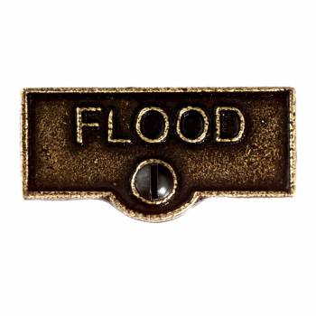 Switch Plate Tags FLOOD Name Signs Labels Cast Brass 11411grid