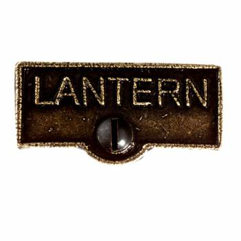 Switch Plate Tags LANTERN Name Signs Labels Cast Brass 11418grid