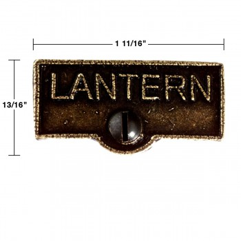 spec-<PRE>Switch Plate Tags LANTERN Name Signs Labels Cast Brass </PRE>