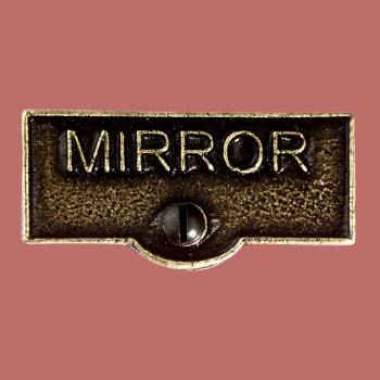 <PRE>Switch Plate Tags MIRROR Name Signs Labels Cast Brass </PRE>