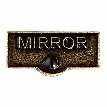 Switch Plate Tags MIRROR Name Signs Labels Cast Brass 11421grid