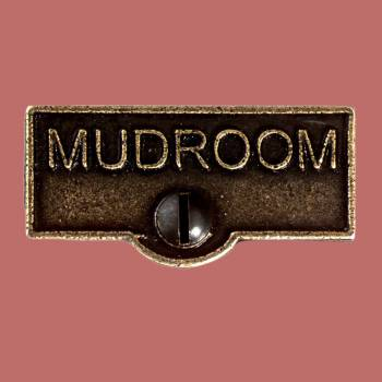 Switch Plate Tags MUDROOM Name Signs Labels Cast Brass Switch Plate Labels Switch Plate ID Labels Switch Plate Label
