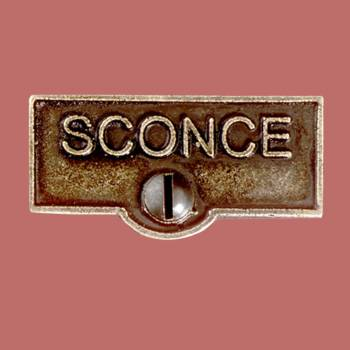 Switch Plate Tags SCONCE Name Signs Labels Cast Brass