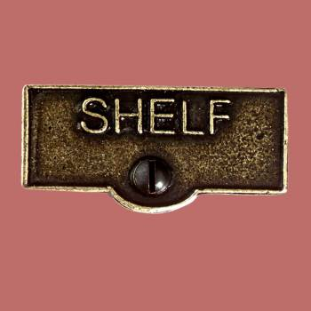 <PRE>Switch Plate Tags SHELF Name Signs Labels Cast Brass </PRE>zoom2