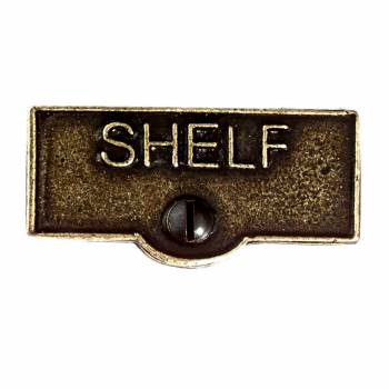 Switch Plate Tags SHELF Name Signs Labels Cast Brass 11428grid