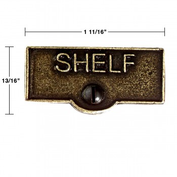 spec-<PRE>Switch Plate Tags SHELF Name Signs Labels Cast Brass </PRE>