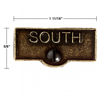 spec-<PRE>Switch Plate Tags SOUTH Name Signs Labels Cast Brass </PRE>