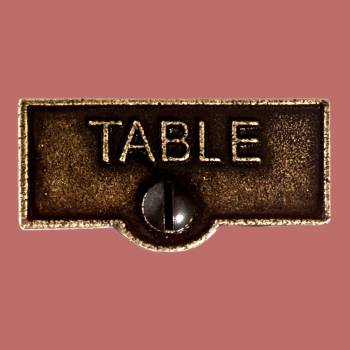 <PRE>Switch Plate Tags TABLE Name Signs Labels Cast Brass </PRE>zoom2