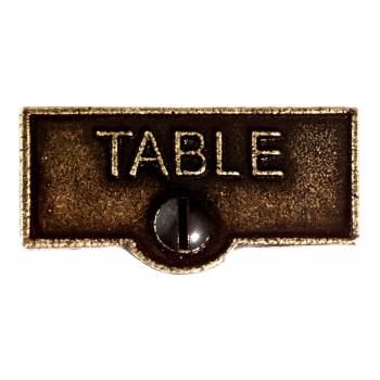 <PRE>Switch Plate Tags TABLE Name Signs Labels Cast Brass </PRE>zoom1