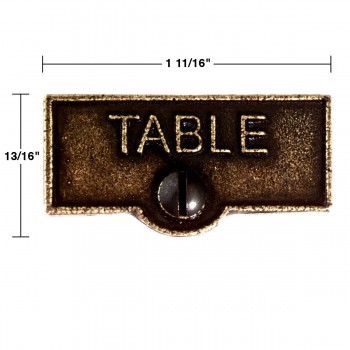 spec-<PRE>Switch Plate Tags TABLE Name Signs Labels Cast Brass </PRE>