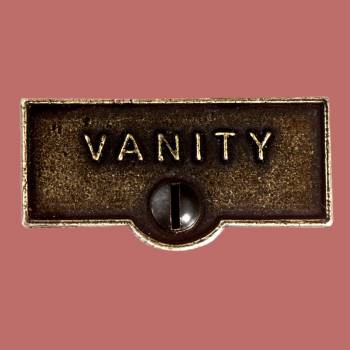 <PRE>Switch Plate Tags VANITY Name Signs Labels Cast Brass </PRE>zoom2