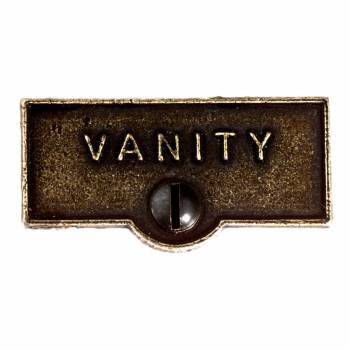 Switch Plate Tags VANITY Name Signs Labels Cast Brass 11439grid