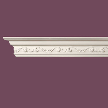 <PRE>Cornice White Urethane Sample of 11452 23.5inch Long </PRE>zoom3