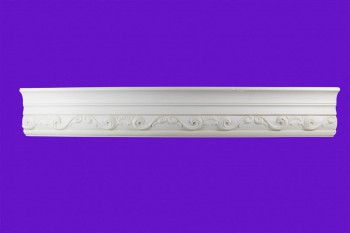 "spec-<PRE>Ornate Cornice White Urethane  94"" L Williamsburg </PRE>"
