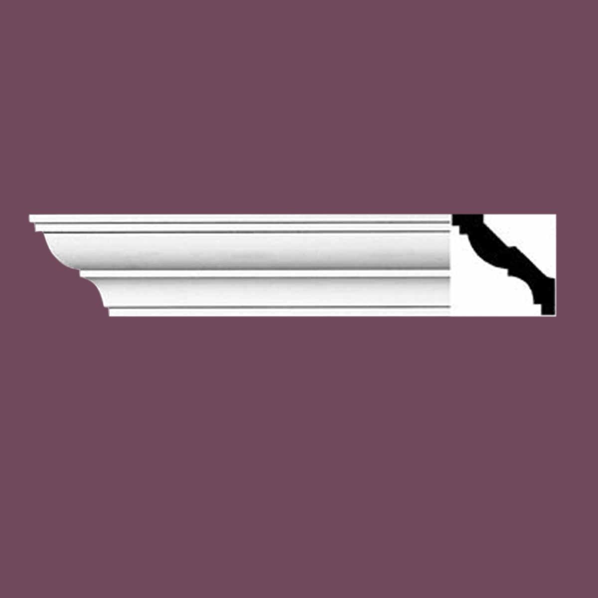 Cornice White Urethane Sample of 11464 24 Long Cornice Cornice Moulding Cornice Molding