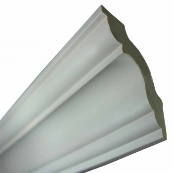 "Cornice White Urethane 2 7/8"" H Merrimac Simple 11484grid"
