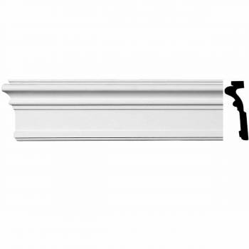 Renovators Supply Crown Molding White Urethane  96 L nch H Somerset Simple Crown Molding White Crown Moldings Crown Moulding Urethane