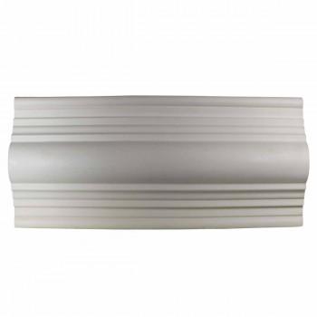 <PRE>Crown Molding White Urethane 3 3/8inch H Lennox Simple </PRE>zoom1