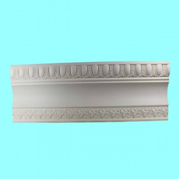 "spec-<PRE>Ornate Cornice White Urethane  96"" L Brewster </PRE>"