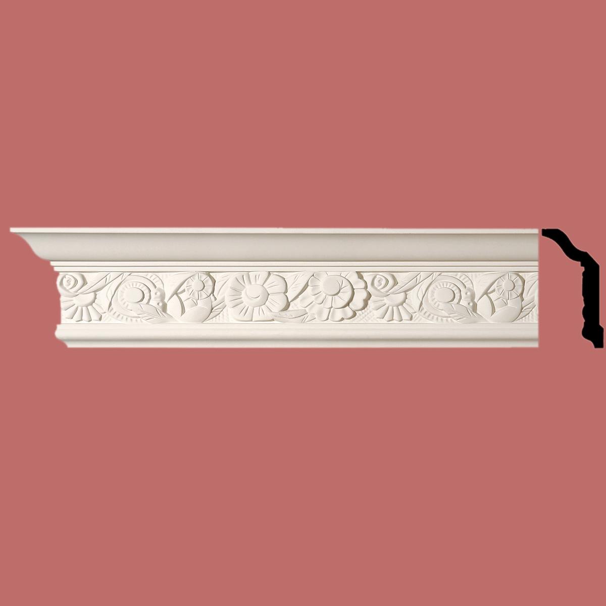 Cornice White Urethane Sample of 11593 24 Long Cornice Cornice Moulding Cornice Molding