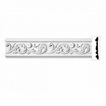 Ornate Crown Molding White Urethane 4 7/8