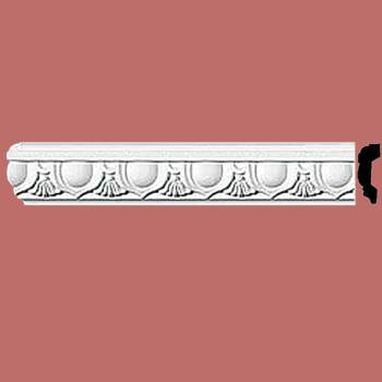 "spec-<PRE>Crown Molding White Urethane 2"" H Cobble Hill Ornate </PRE>"