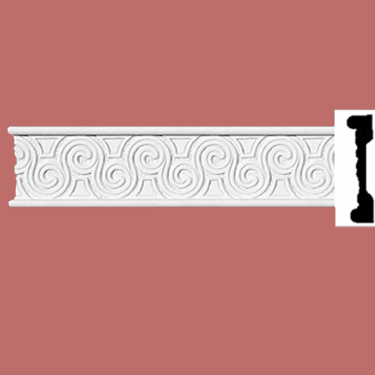 Cornice White Urethane Sample of 11617 Crown Molding Crown Moldings Crown Moulding