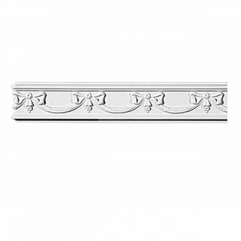 "Crown Molding White Urethane 4 3/8"" H Emerson Ornate 11628grid"