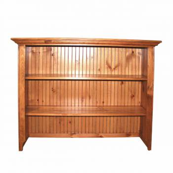 Honey Pine Open Top Hutch ONLY Honey Pine Finish116314grid