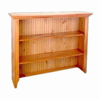 <PRE>Heirloom Pine Open Top Hutch ONLY Heirloom Pine Finish</PRE>