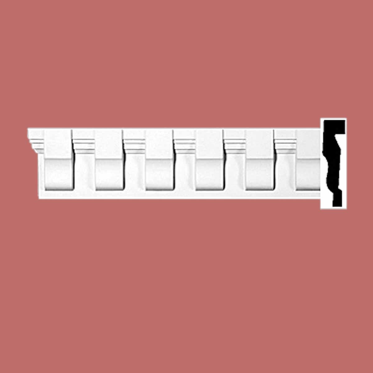 Cornice White Urethane Sample of 11632 23.5 Long Cornice Cornice Moulding Cornice Molding