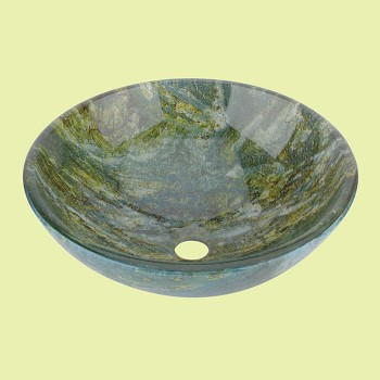 <PRE>Glass Vessel Bathroom Sink Double Layer Seeweed Pop-up In </PRE>