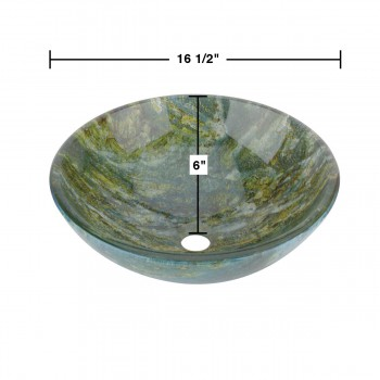 spec-<PRE>Glass Vessel Bathroom Sink Double Layer Seeweed Pop-up In </PRE>