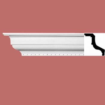 "<PRE>Cornice White Urethane 5"" H Chapel Hill Simple </PRE>zoom2"