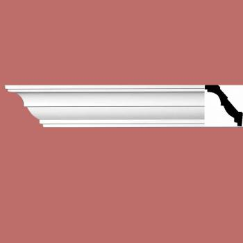 "<PRE>Cornice White Urethane 3 3/8"" H Holly Springs Simple </PRE>"