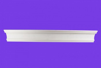 "spec-<PRE>Cornice White Urethane  94"" L  Bridgeport Simple </PRE>"