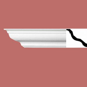 spec-<PRE>Cornice White Urethane 4 1/8&quot; H Kensington Simple </PRE>